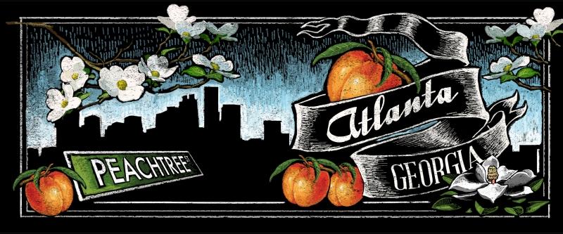 Atlanta Chalkboard Art