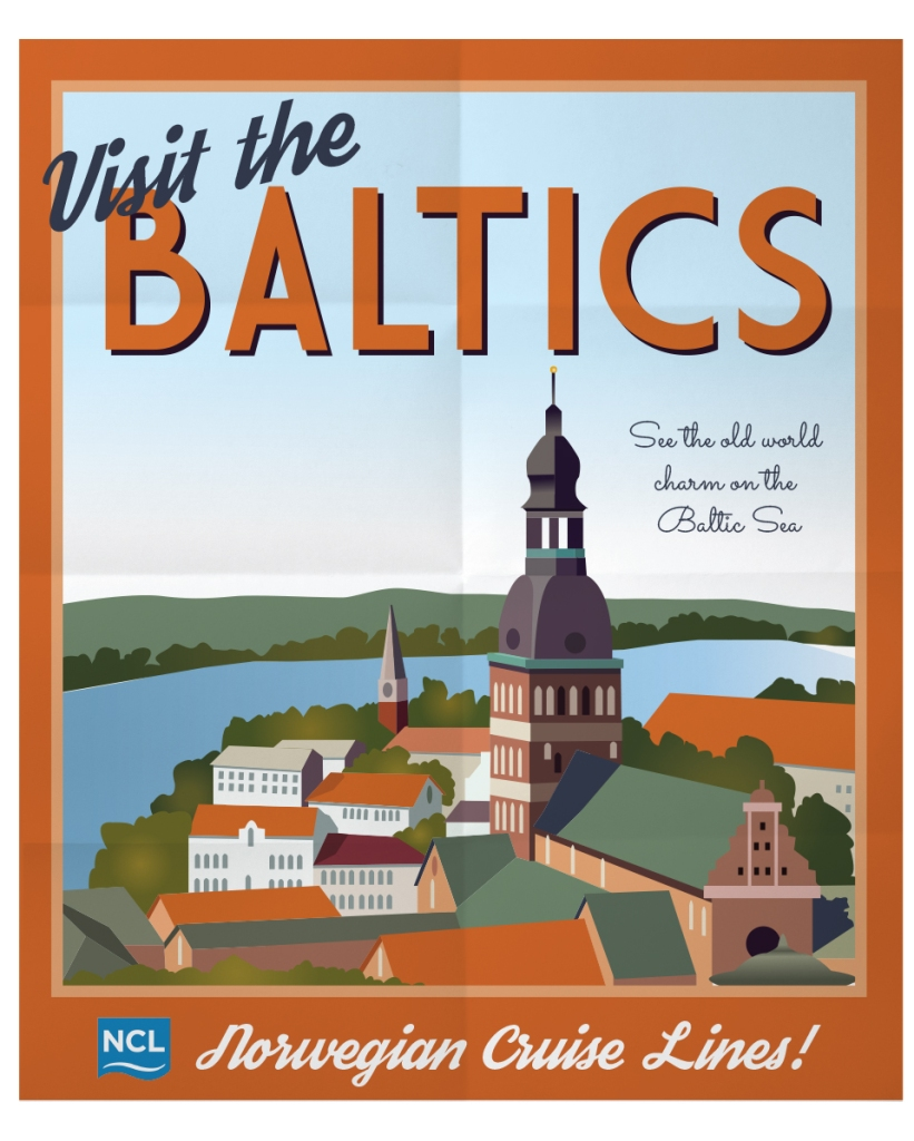 Baltics Travel Poster