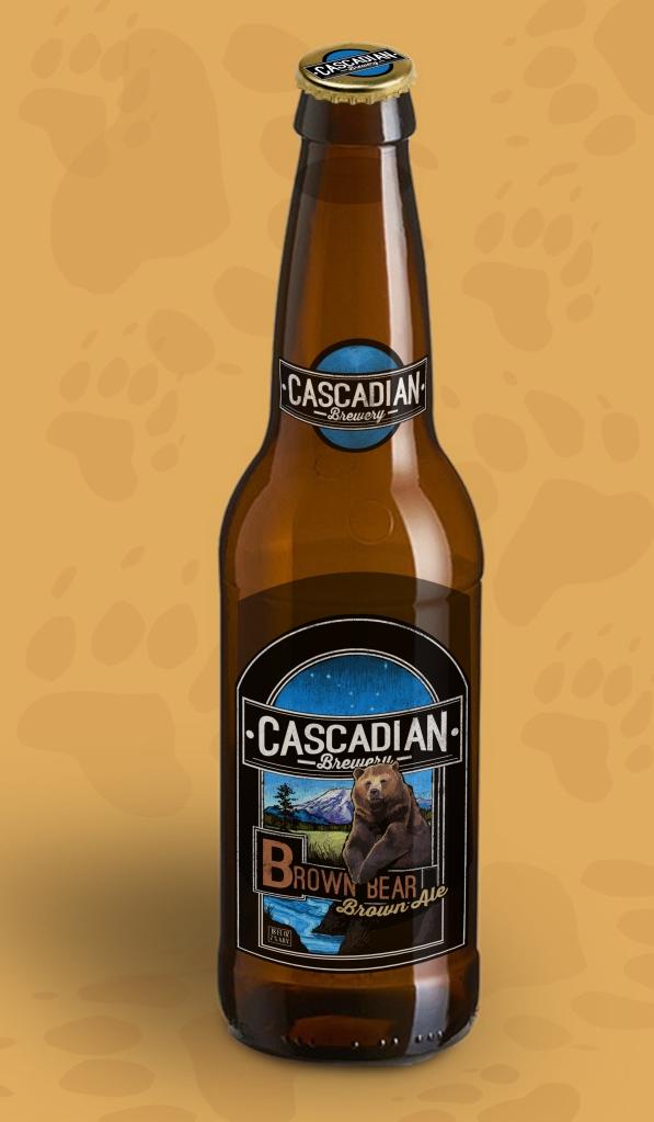 Brown Beer Bottle Mock