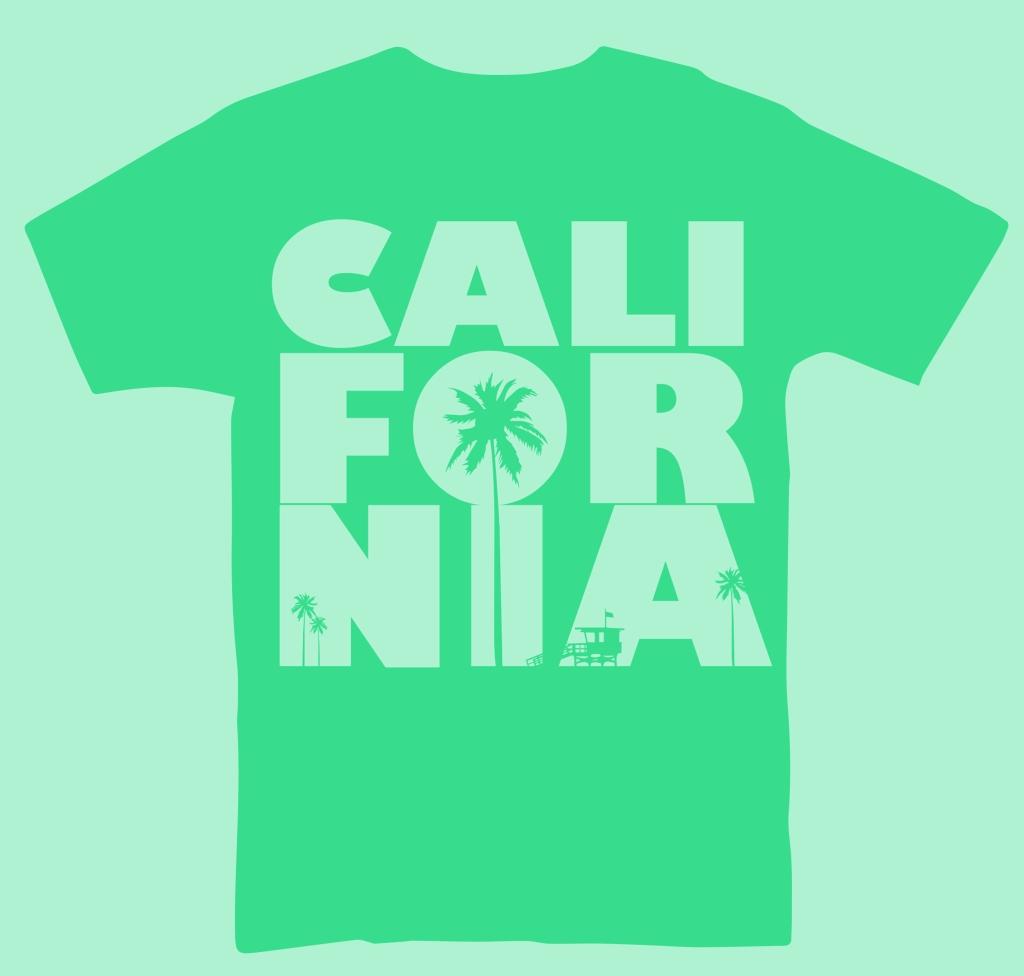 California Aqua T-Shirt Design