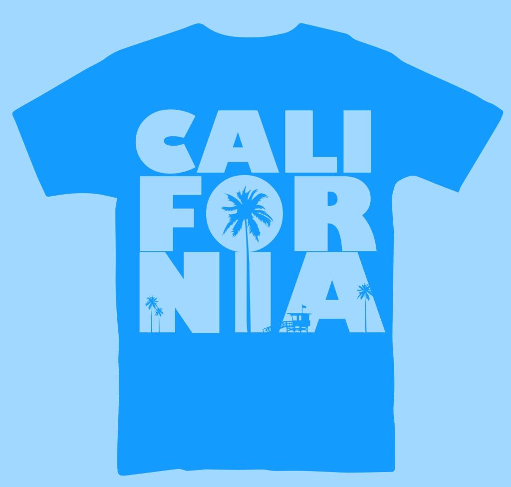 California Blue T-Shirt Design