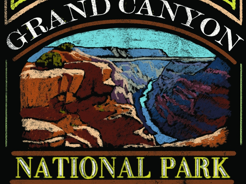 Grand Canyon National Park Chalkboard Design