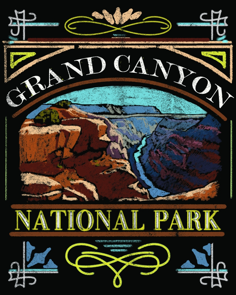 Grand Canyon National Park Chalkboard Design