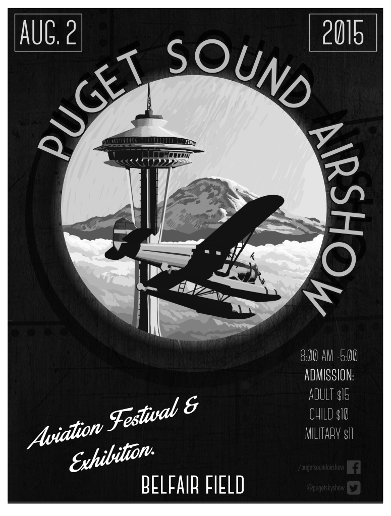 Puget Sound Air Show bw