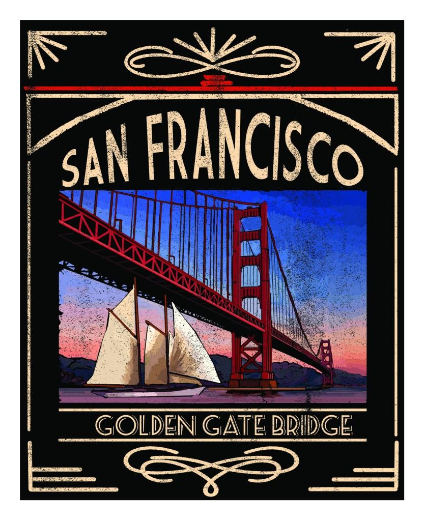 San Francisco Chalkboard Design