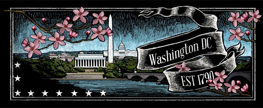 Washington DC Chalkboard Design