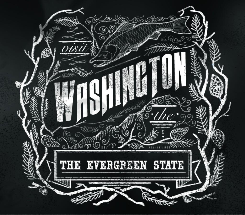Washington Chalkboard Design