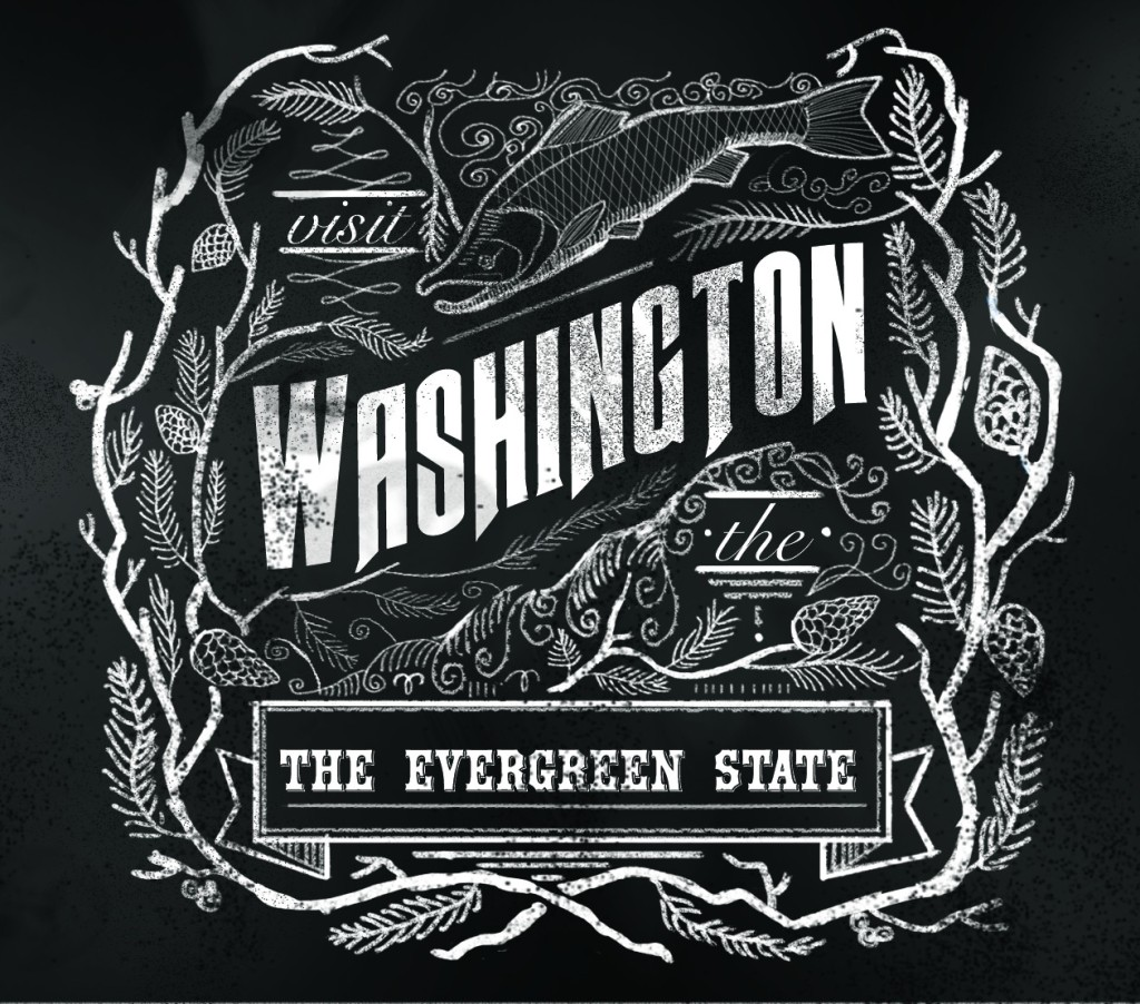Washington Chalkboard Design